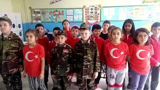Kırklareli Ziya Gökalp İlkokulu 2.sınıf öğrencileri Kahraman Mehmetçiklerimiz İçin BAYRAK MARŞI nı S
