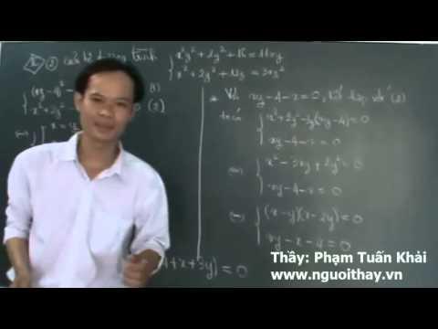 Hệ Phương Trình [ Trích câu II.2 đề thi thử Đại Học lần 3 của nguoithay.vn ]