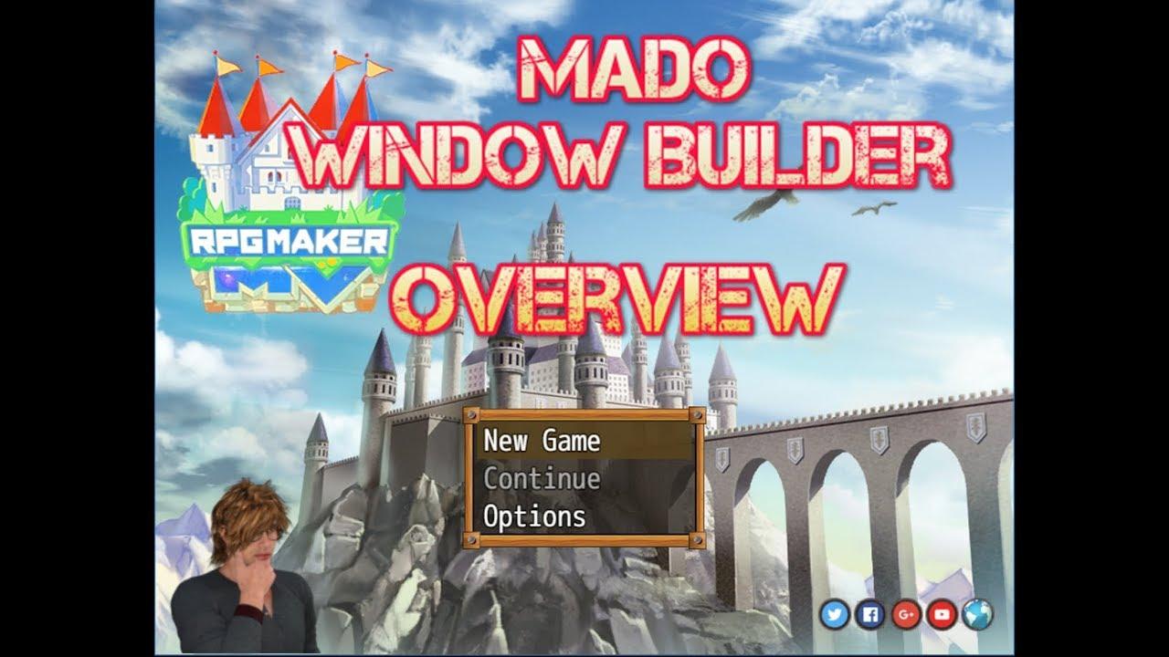 MADO Window Builder Tool - RPG Maker MV - Overview & Tutorial