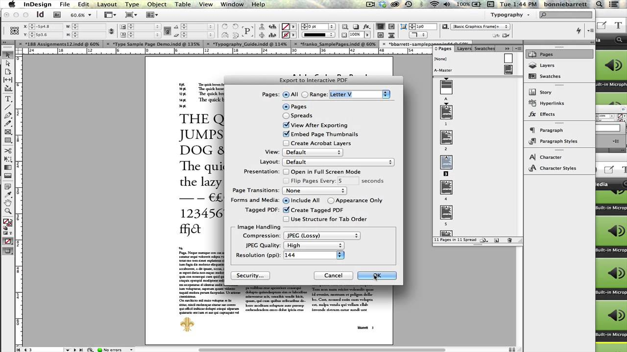 06-Exporting to Interactive PDF from InDesign