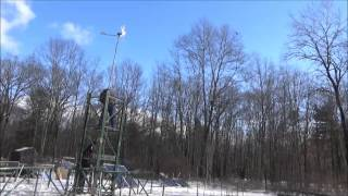 Mounting My 350 Watt Wind Turbine