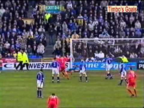 Gary McAllister Goal - Everton 2 Liverpool 3 - Premiership (16/4/01)