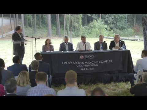 Hawks Break Ground On Emory Sports Medicine Complex