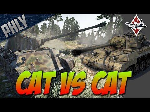 War Thunder TANK GAMEPLAY- CAT VS CAT - Panther Tank Gameplay