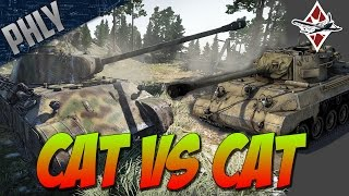 War Thunder TANK GAMEPLAY- CAT VS CAT - Panther Tank Gameplay