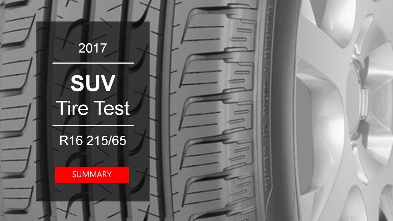 2017 suv summer tire test summary 215 65 r16 youtube. Black Bedroom Furniture Sets. Home Design Ideas