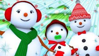 Snowman Finger Family | WigglePop