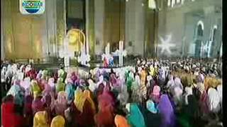 ShubhanaAllah suara Fida d academy melantunkan ayat suci Al Qur'an di Tabligh Akbar Surabaya