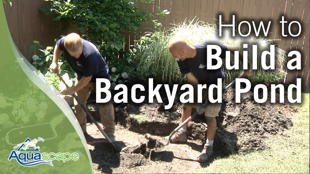 How to build a backyard pond youtube for How to build a small lake