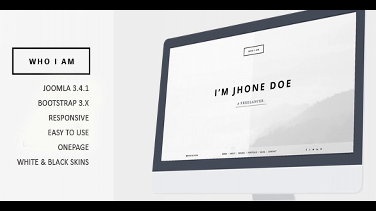 Who I Am - Resume And Portfolio Joomla Template | Themeforest Website  Templates And Themes