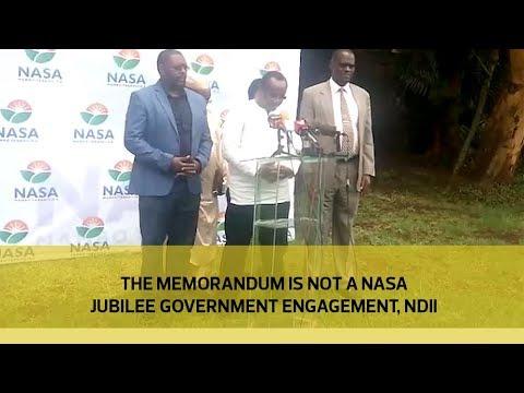 The memorandum is not a NASA - Jubilee government engagement - Ndii
