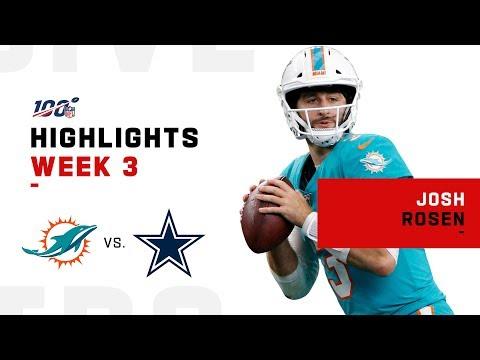 Every Josh Rosen Pass Attempt vs. Cowboys | NFL 2019 Highlights