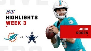 Every Josh Rosen Pass Attempt vs. Cowboys | NFL 2019 Highlights
