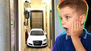 Заказал новую машинку. Очень большая ауди. Видео для детей.