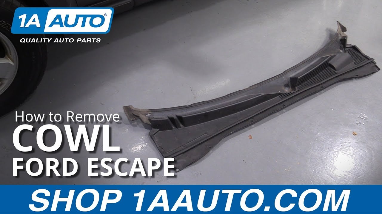 How To Remove Cowl 08 12 Ford Escape