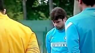 Inter, Minuto di Silenzio per Morosini [Prima dell'Allenamento] 19-04-2012