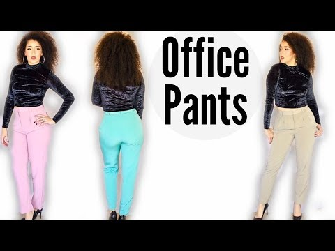 High Waist Pants | Work Attire | Business Trousers | American Apparel Dress Slacks | #businesscasual