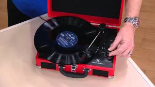 Nostalgic Suitcase Turntable with Bluetooth Technology with Janice Marie