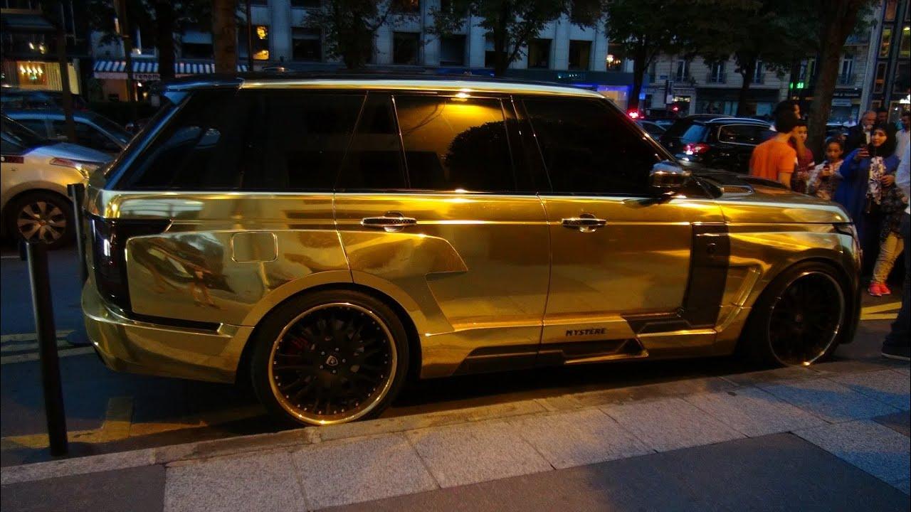 Golden Range Rover HAMANN Mystère - YouTube