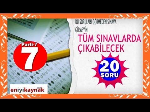 Tüm Sınavlarda Çıkabilecek 20 Genel Kültür Sorusu Mutlaka İzleyin-Parti-7