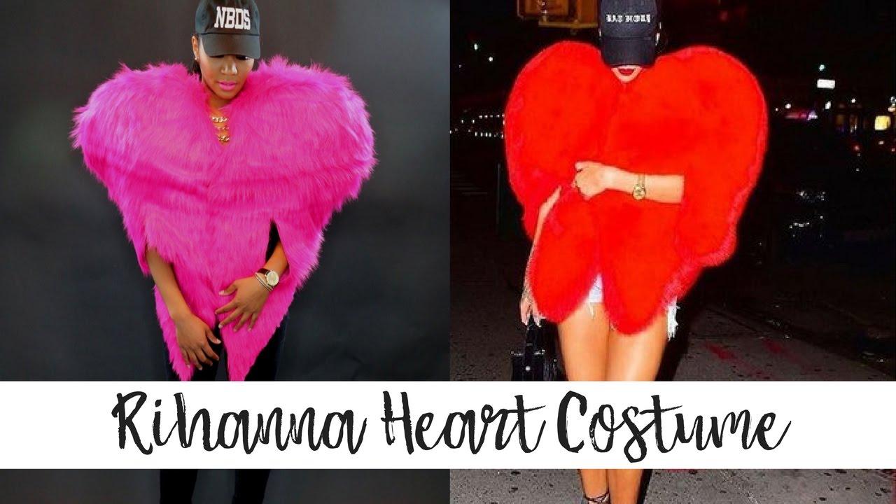 2a59a33a1fb DIY Rihanna Heart Costume | HALLOWEEN 2016 - YouTube