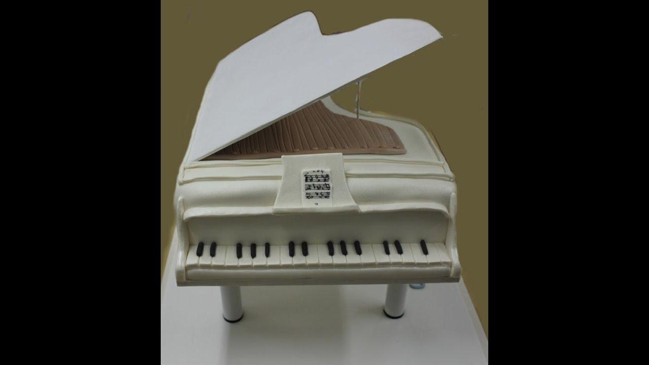 Tarta de piano Piano fondant cake  YouTube