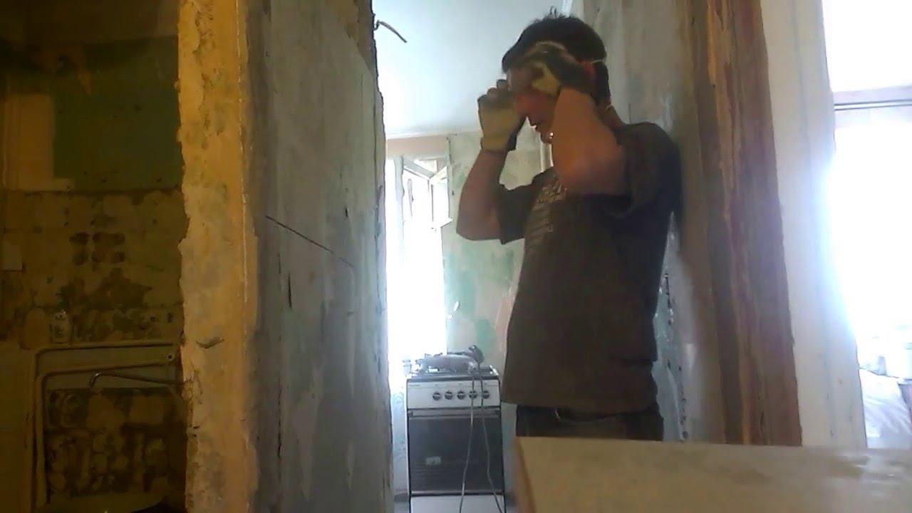Сантехкабина-демонтаж без шума и пыли. Штроборез Фиолент. Диск Distar.