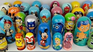 Opening Collection of Lots of Nesting dolls or Stacking Cups