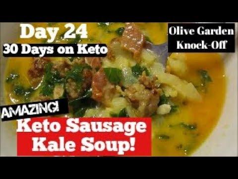Day 24 Keto Sausage Kale Soup Olive Garden Copycat Youtube