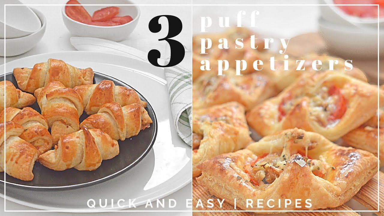 3 Puff Pastry Etizers Quick And