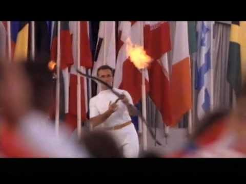 Barcelona 92 Summer Paralympics cauldron (torch) lighting