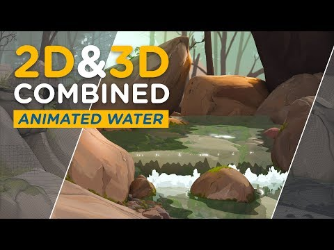 2D&3D Combined - Animated Water