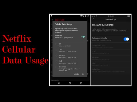 Netflix Cellular Data Controls
