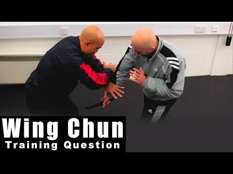 Wing Chun training - wing chun weapon destroy arm with weapon. Q95