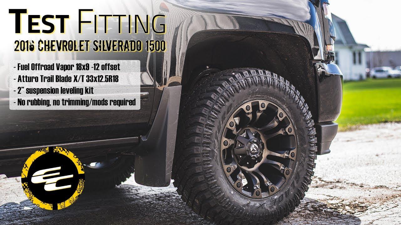 2016 Duramax Specs >> Test Fitting - Leveled 2016 Chevy Silverado 1500 w/ 18 ...