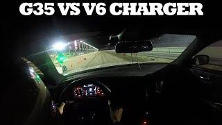 GRUDGE RACE! V6 Charger vs G35 1/8th Mile Drag Race