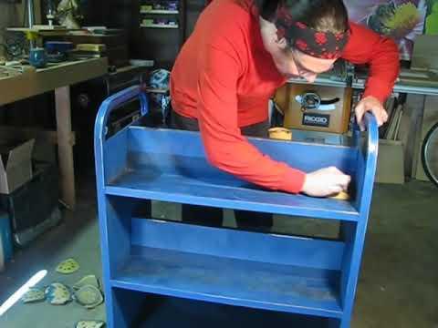 Spray Painting Metal Furniture