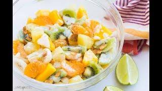 Hawaiian Fruit Salad with Honey Lime Coconut dressing