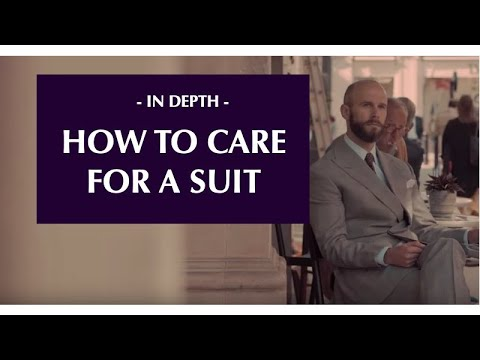 How to maintain and care for a suit - at Henry Poole on Savile Row