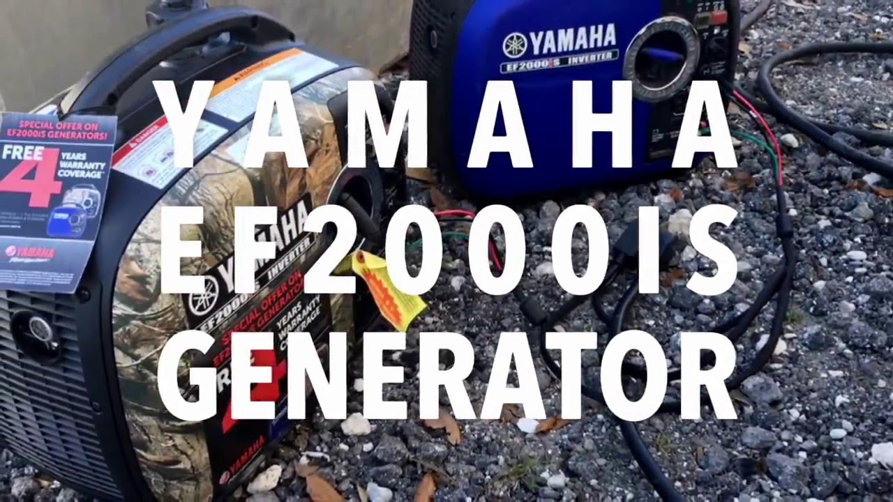 hight resolution of two yamaha ef2000 generators running in parallel to power a work and play toy hauler