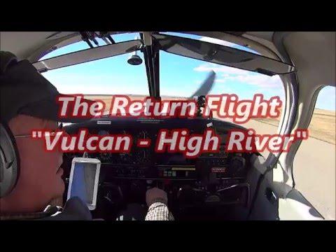 "Piper Cherokee  ""The Return Flight""  Vulcan-High River  Vlog #87"
