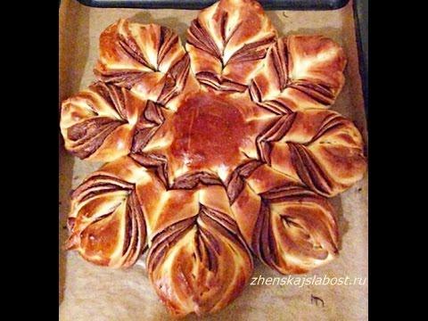 Пирог  с вареньем   ЦВЕТОК - Оочень вкусный/Pie FLOWER with varenem- Oochen delicious /