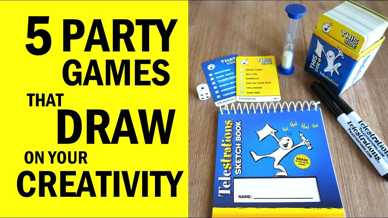 5 Party Games That DRAW on your CREATIVITY - Fun Family Board Games