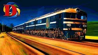 Поезда для детей и Железнодорожный транспорт развивающие мультики для детей про железную дорогу