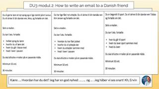 How to write an email to your Danish friend (DU 3 module 2): Ervin explains 4 test examples