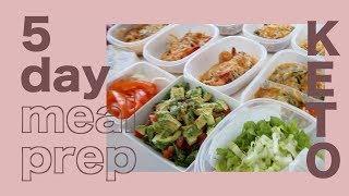 Keto Meal Prep 1200-1300 calories/day