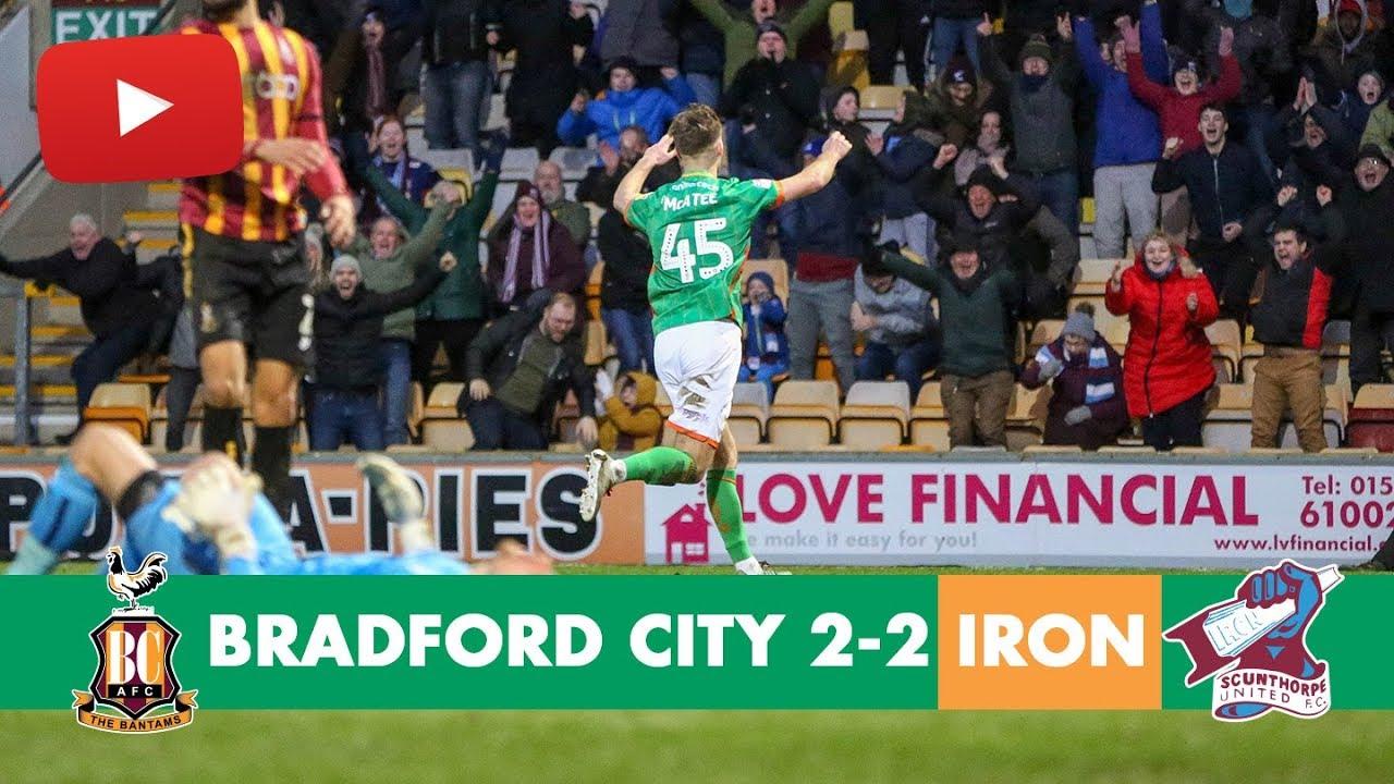 Брэдфорд Сити  2-2  Сканторп Юнайтед видео