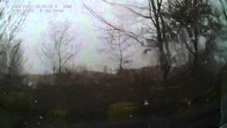 Nearby lightning strike - still frames from DVR
