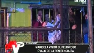 Marisela Santibáñez visitó el peligroso óvalo de la Penitenciaría