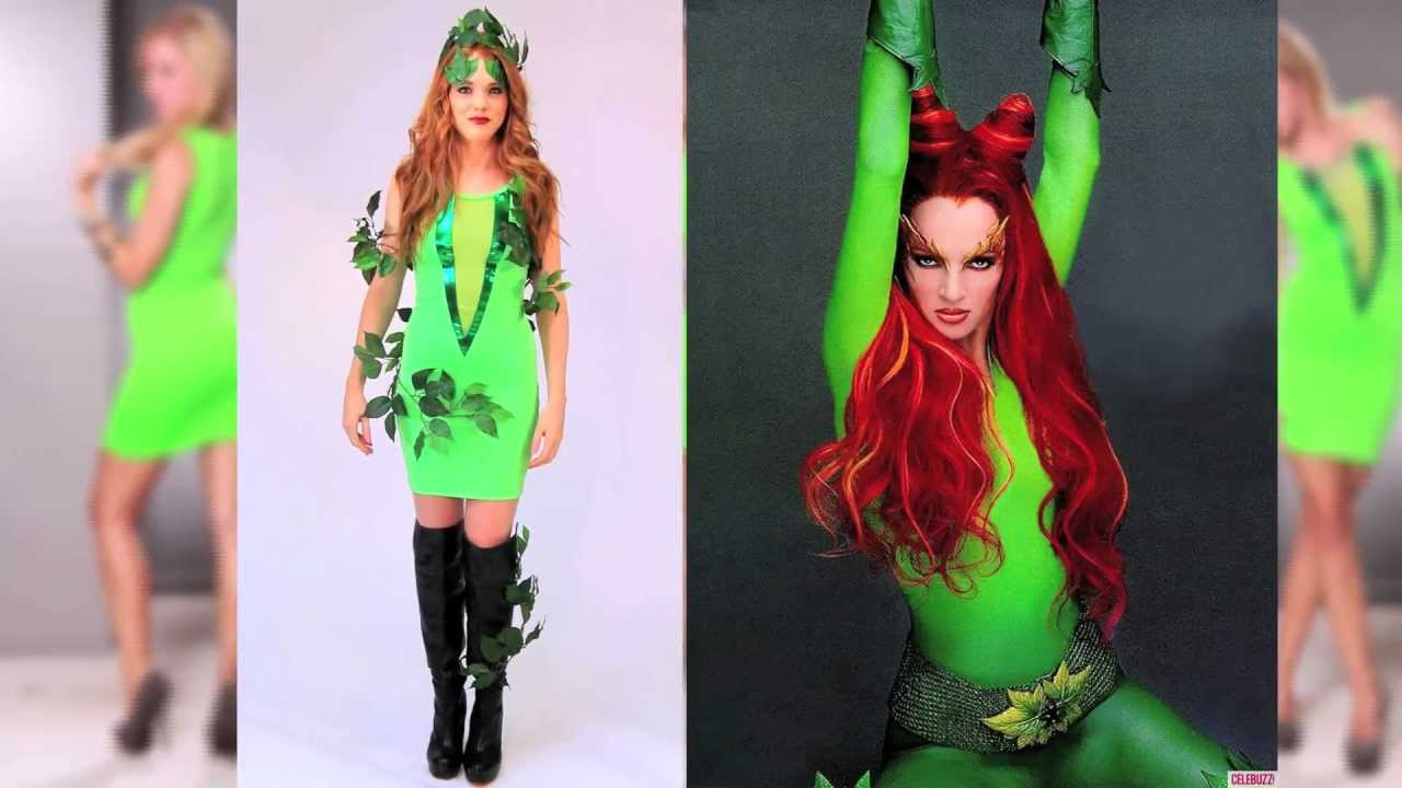 sexy halloween poison ivy inspired costume diy youtube